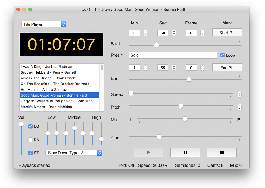 Amazing Slow Downer for Mac OS X - an easy way to slow down
